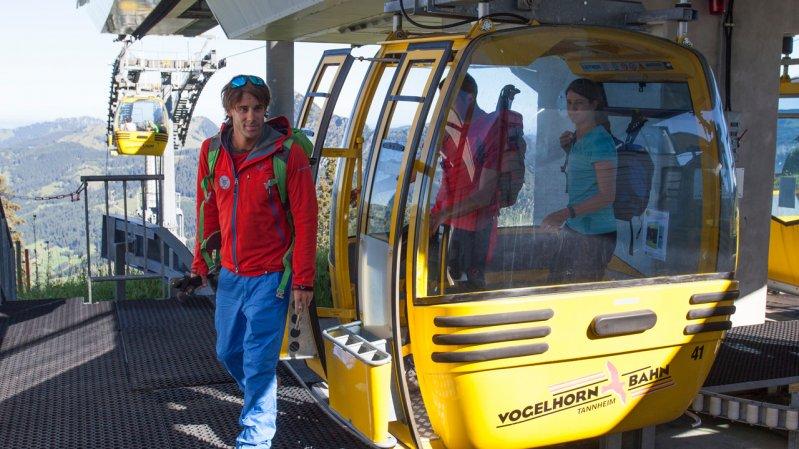 8-Passenger Neunerköpfle Gondola in Tannheim, © Tirol Werbung/Klaus Kranebitter