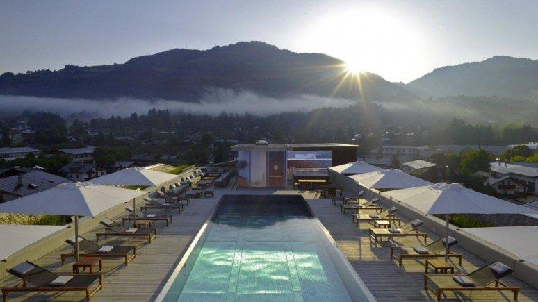 Pool at the Hotel Schwarzer Adler in Kitzbühel